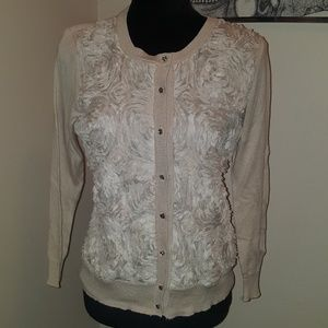 New York and Company cream sweater. Size S